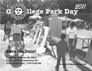 College Park Day 2011 Save the Date Flyer